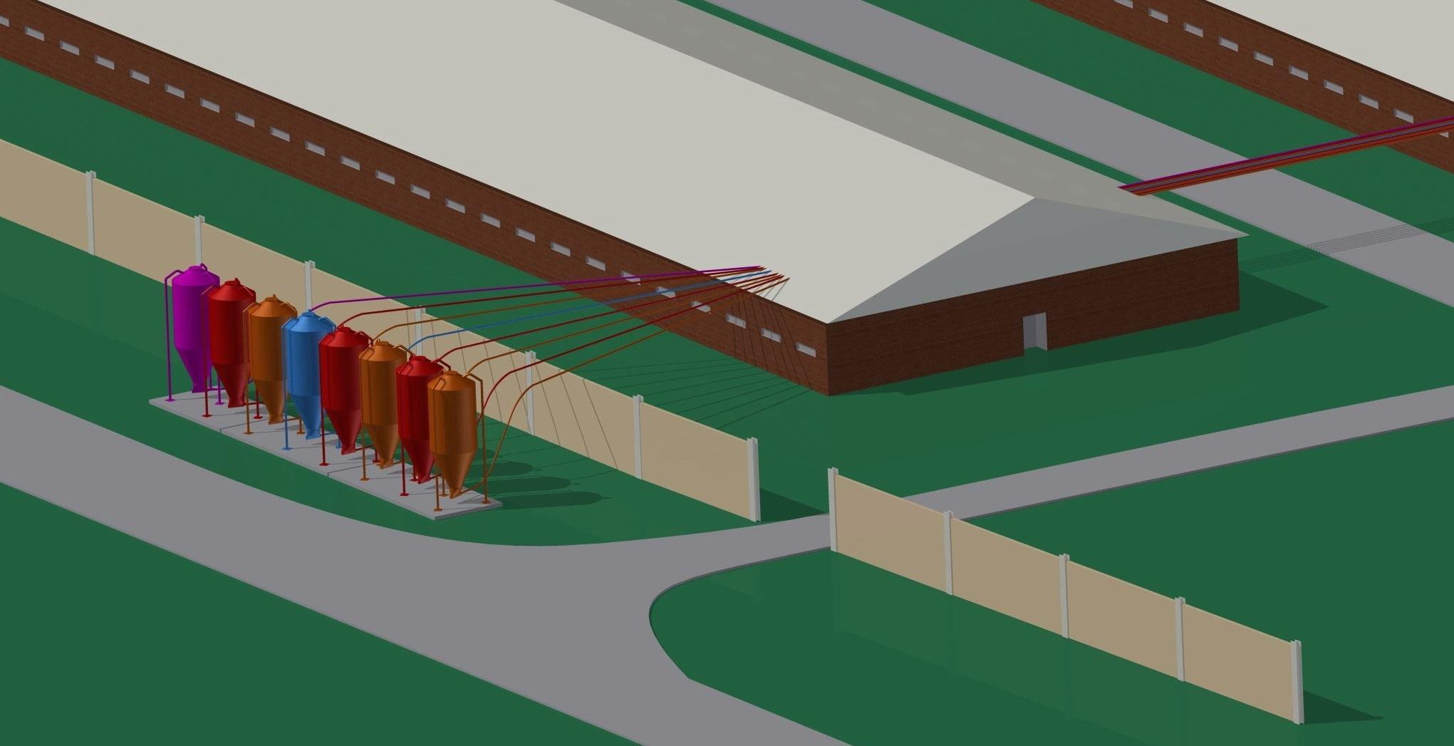 Кормоавтомати Tube-o-Mat на свинокомплексі