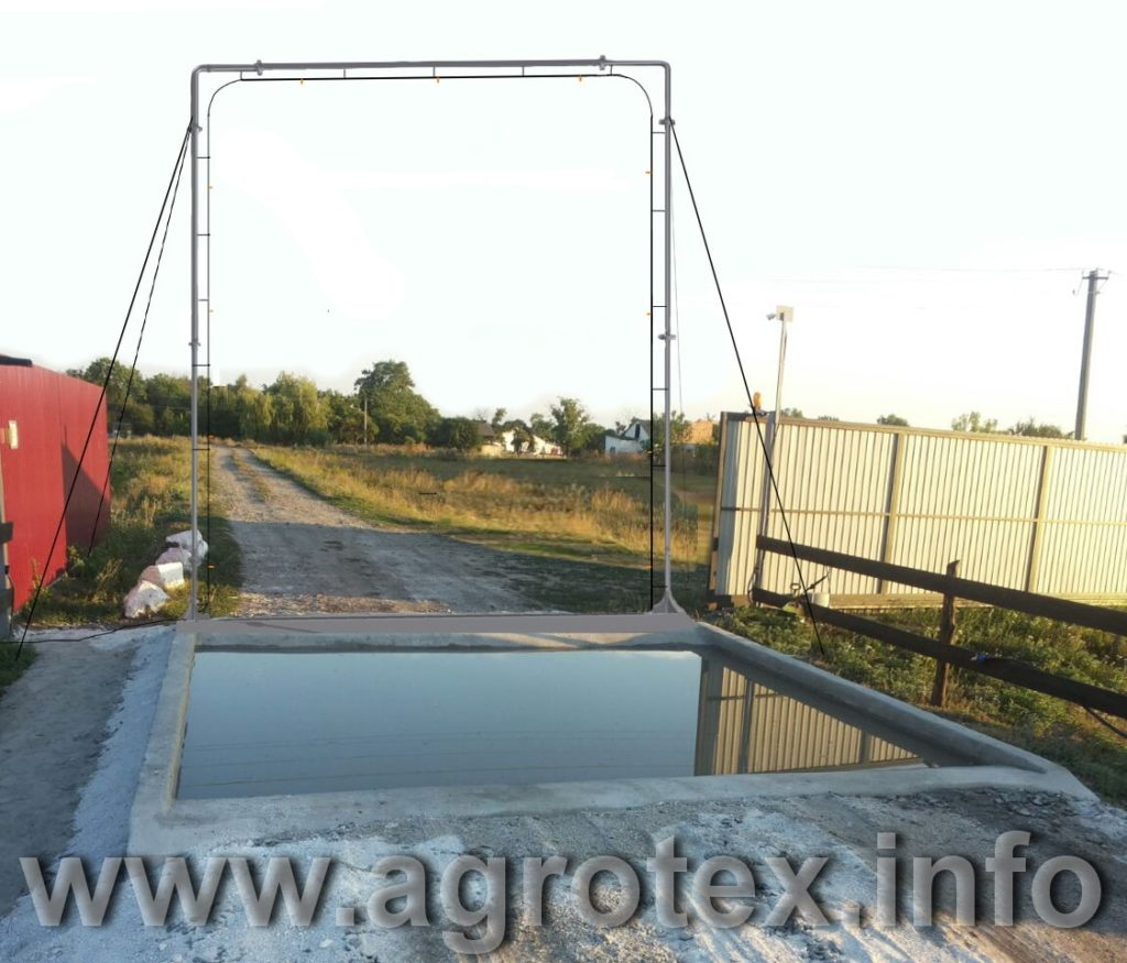 Дезбарьер для автотранспорта на фермі