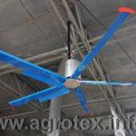 Стельовий вентилятор гелікоптер для доїльного залу