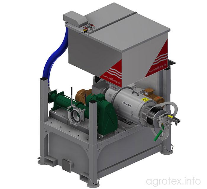 Шнековий сепаратор Stallkamp PSS 4-550 - робоча схема